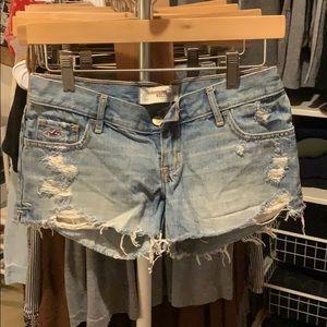 Hollister distressed shorts.